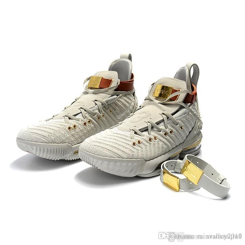 eda4efccdf98 2019 What The Lebron 16 Basketball Mens Shoes For Sale White Gold ...