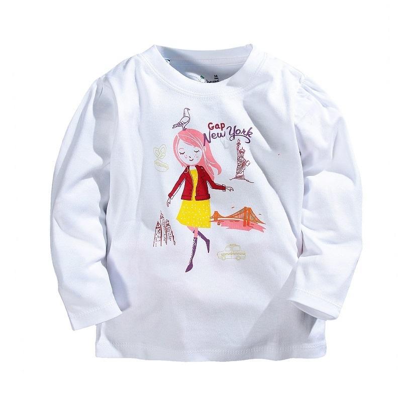 526e45ada7e5 2019 Spring Summer Girls T Shirts Brand Cartoon Long Sleeve T Shirts ...