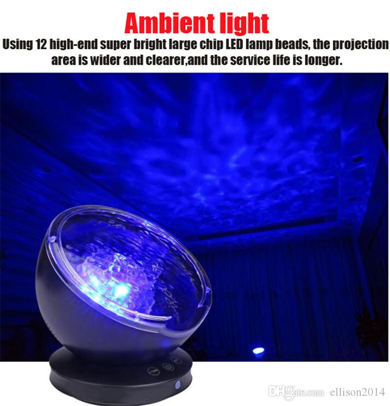 LED 5V sleep marine projection mini surprise gift romantic sleep atmosphere music speaker gift bar night light table lamp