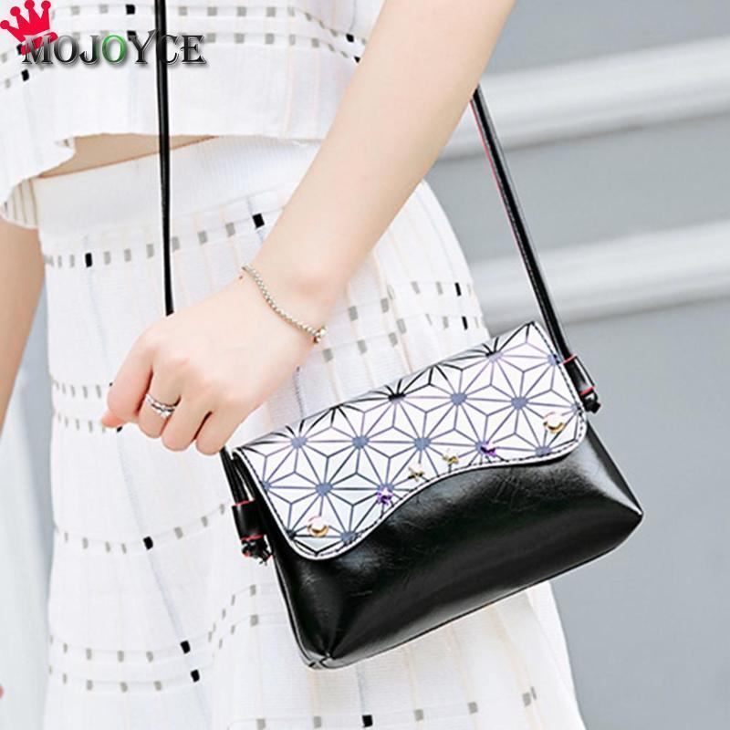 6a1a341b6 Cheap Women Crossbody Bag PU Leather Girls Female Stars Geometry Small  Shoulder Bags Casual Lady Flap Mini Messenger Bags Ladies Purses Fashion  Bags From ...