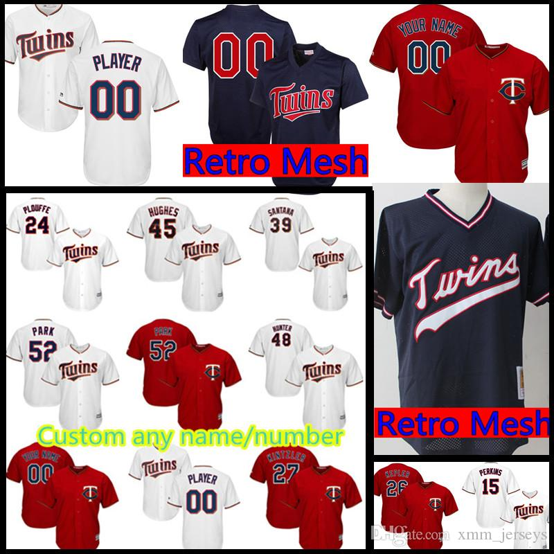 d1cae5e2107 Mens Minnesota Twins Custom Jersey 26 Max Kepler 25 Byron Buxton 36 Robbie  Grossman 5 Eduardo Escobar 54 Ervin Santana Jerseys