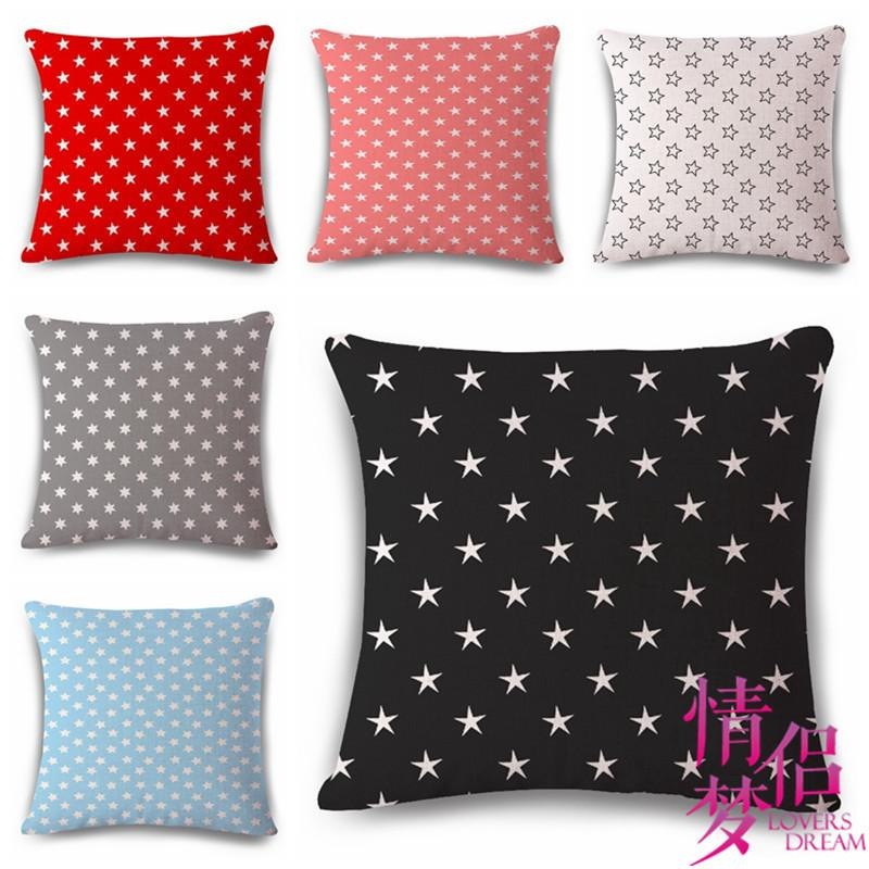 Five Pointed Star Geometry Cotton Flax Pillow Back Cushion Cushion Ebay Heat Sell