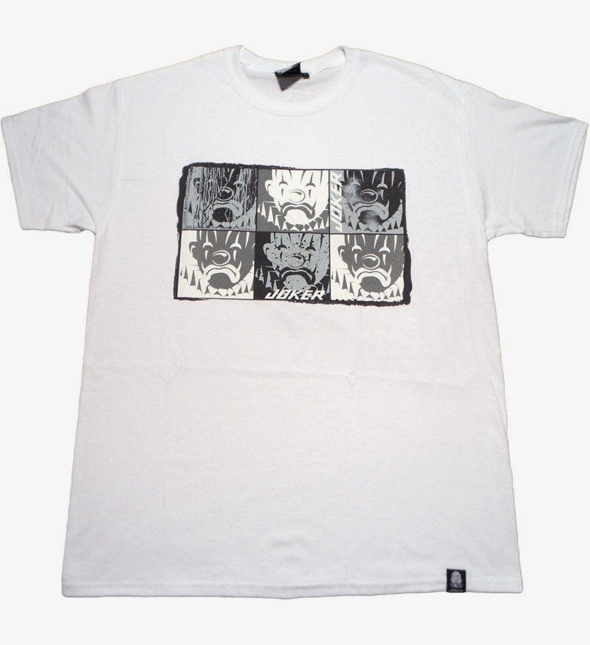 Mens Designer T Shirts Shirt Joker Brand Mosaic T Shirt Tee White