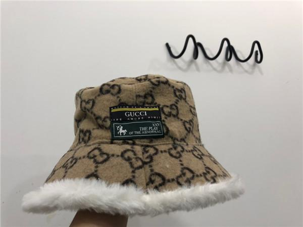 19AW New arrival luxurious design downy bucket hat men women warm breathable fashion streetwear outdoor hats