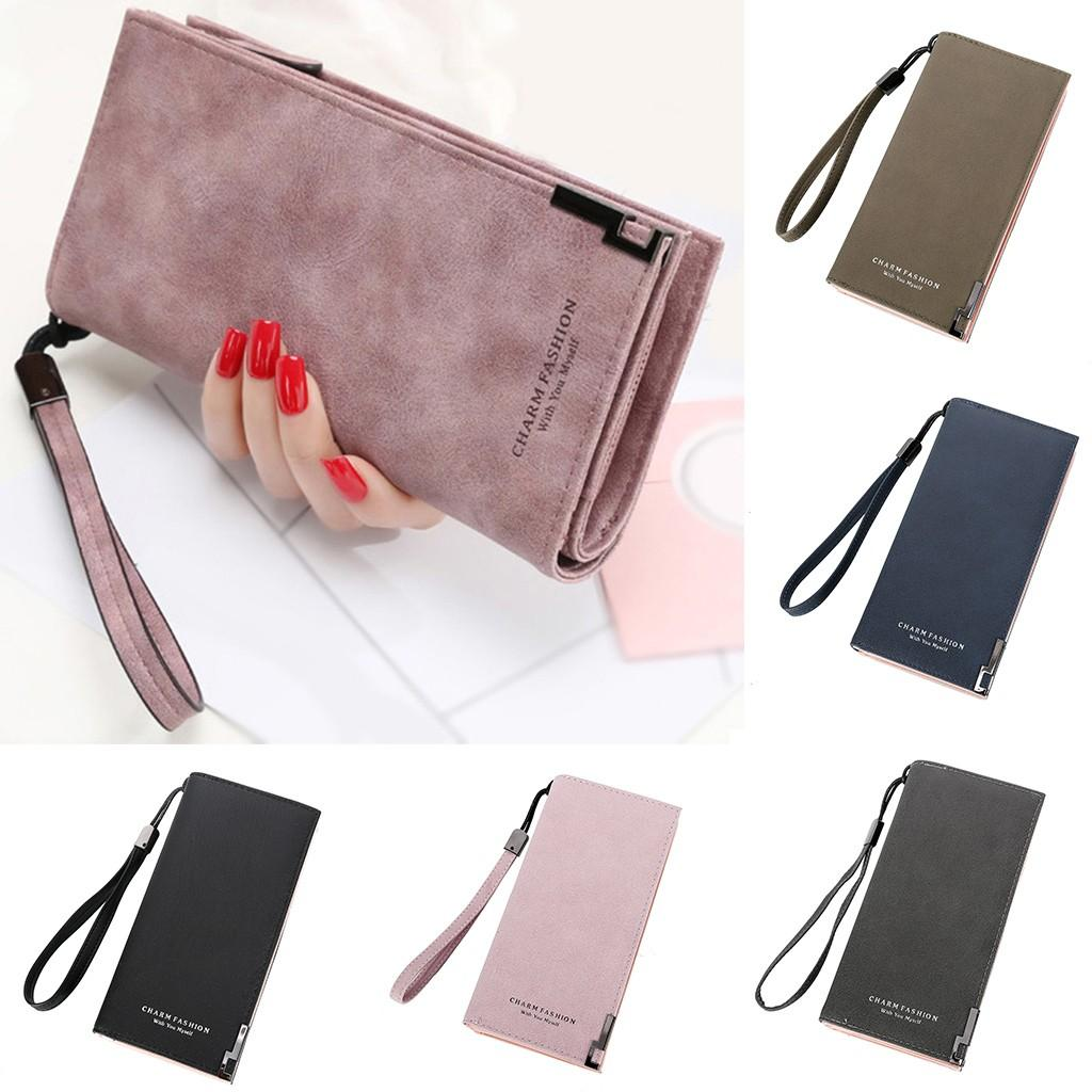 MUQGEW WomenTotes 2019 Hot Fashion Simple 5 Color Solid Handbags Long Zipper Ladies Hand Bags Bolso Mujer Clutch Female