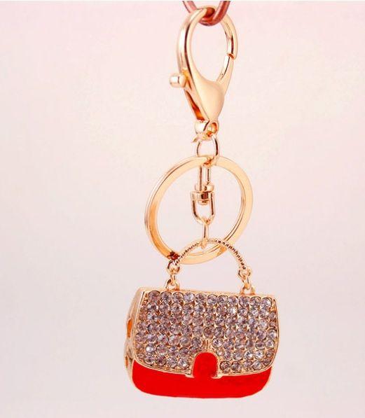 Cristallo strass borsa Portachiavi metallo Portachiavi portachiavi auto portachiavi della borsa della borsa del pendente del sacchetto di Keychain del metallo migliori regali