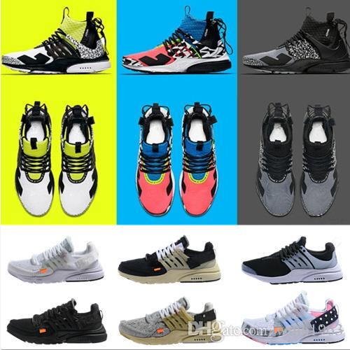 2019 New Presto Running Shoes Men Ultra BR QS Yellow Pink Prestos Black Air White Oreo Outdoor Jogging Mens Trainers Sneakers Size 7-12