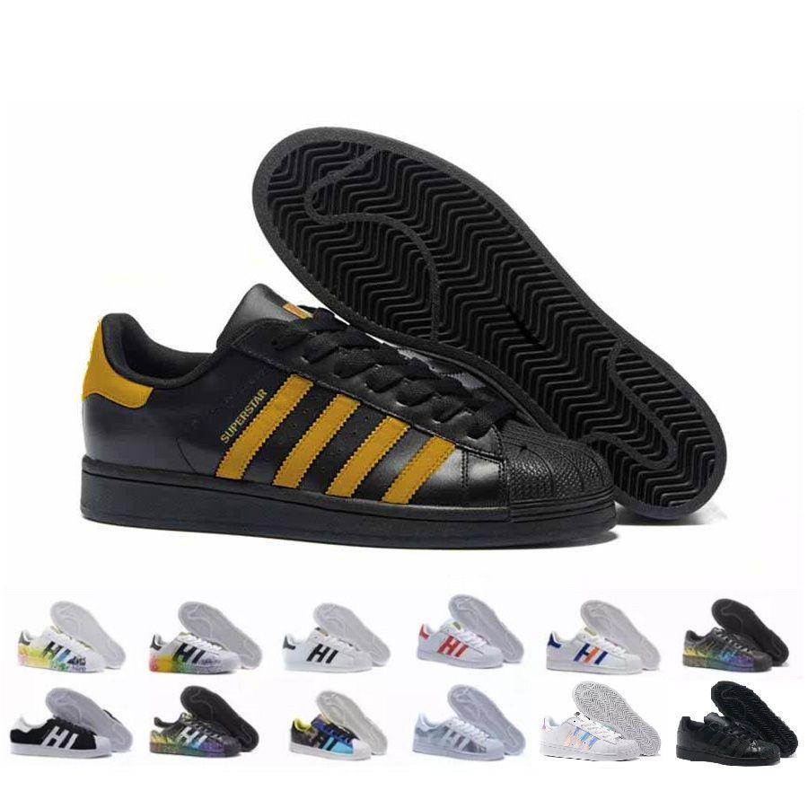 newest collection adc3b 38842 2019 Marca Moda Hombre Zapatos Casuales Superstar Smith Stan Zapatos Planos  Femeninos Baratos Para Mujeres Zapatillas Deportivas Mujer Sapatos  Femininos Por ...