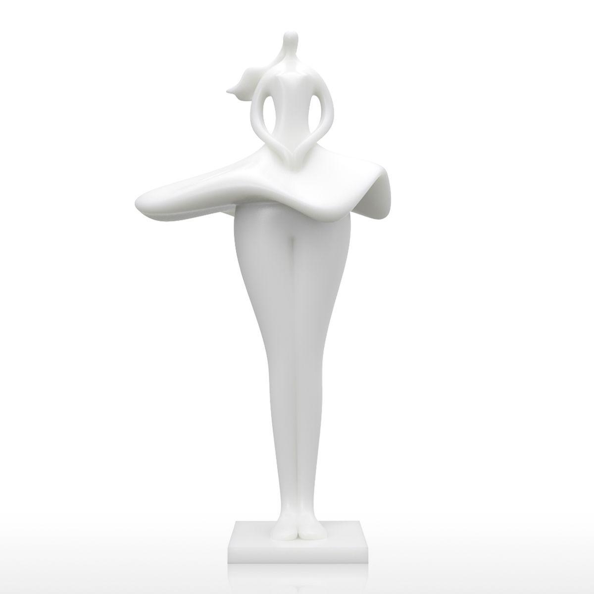 Tooarts Skirt Girl 3D Printed Sculpture Elegant Model Miniatures Art Modern  Sculpture Accessories Artwork For Home Office