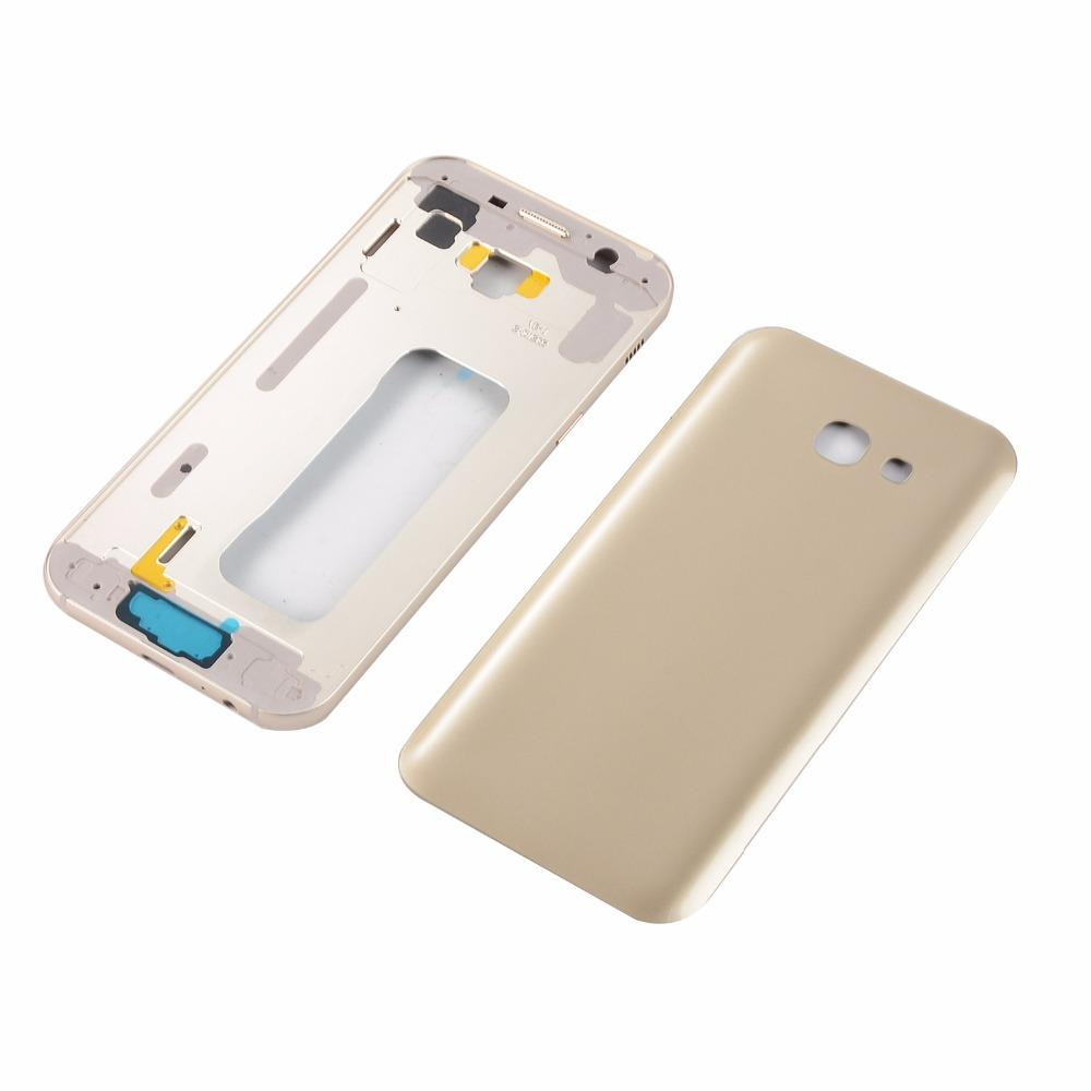 For Samsung Galaxy A5 2017 SM-A520F A520 Metal Lcd Middle Frame Housing +Power On Off Side Button+Battery Back Glass