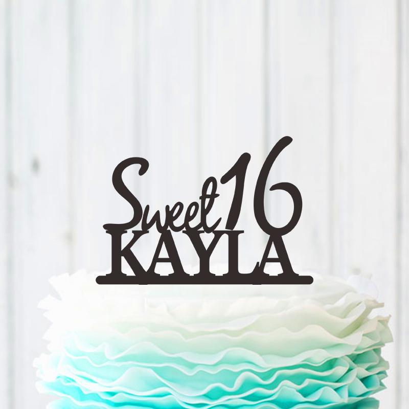 Customized Acrylic Wedding Cake Topper Groom Mr Mrs Customized Name Wedding  Cake Fork Family Birthday Party Decoration