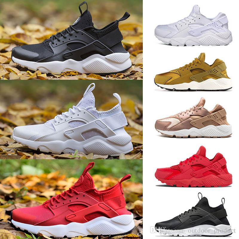 the latest 5fd53 87391 2019 Hot Huarache Women Running Shoes Men VARSITY JACKET PURPLE PUNCH  Triple Black White Pink Mens Trainer NIK Breathable Sports Fashion Sneakers  From ...