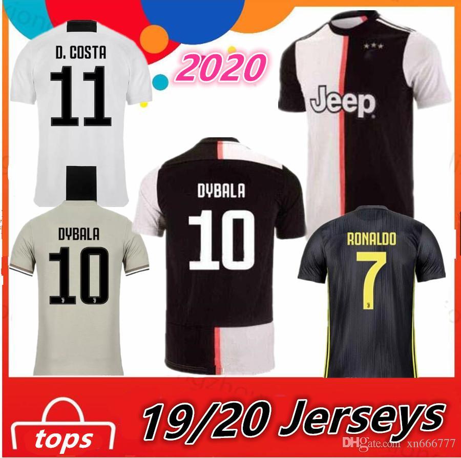 b49f853eb JUVENTUS 2019 2020 RONALDO DYBALA Soccer Jersey 18 19 20 Camisetas JUVE CR7  Camisa De Futebol Maillot Football Kit Shirts Juventus Ronaldo Juventus  2020 ...