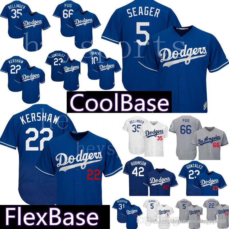 2019 Los Angeles Dodgers Jersey 22 Clayton Kershaw 5 Corey Seager  Embroidery Jerseys 35 Cody Bellinger 10 Justin Turner 31 Joc Pederson From  Big red shop a506c57ebe5