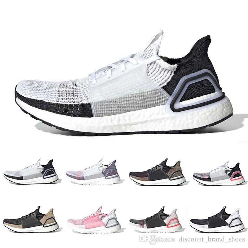 31c0b6c00 Cloud White Black Ultra Boost 2019 Ultraboost Mens Running Shoes Refract  Clear Brown Primeknit 4.0 Sports Trainer Men Women Sneakers 36 45 Black  Running ...