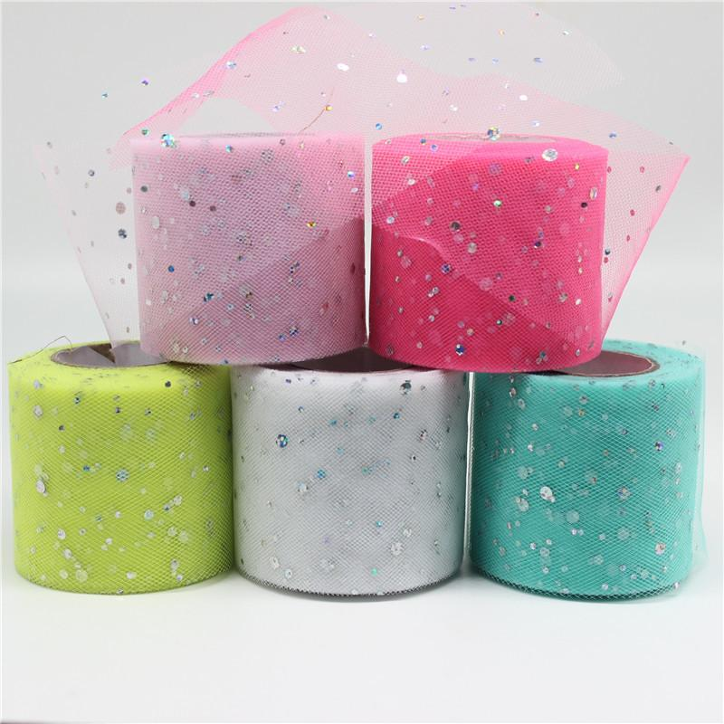 25Yards Width6.5cm Glitter Sequin Tulle Roll Wedding Decoration Spool Tutu  Organza DIY Craft Birthday Party Decoration Online with  1.36 Piece on  Jerry07 s ... 73e0168ab90e