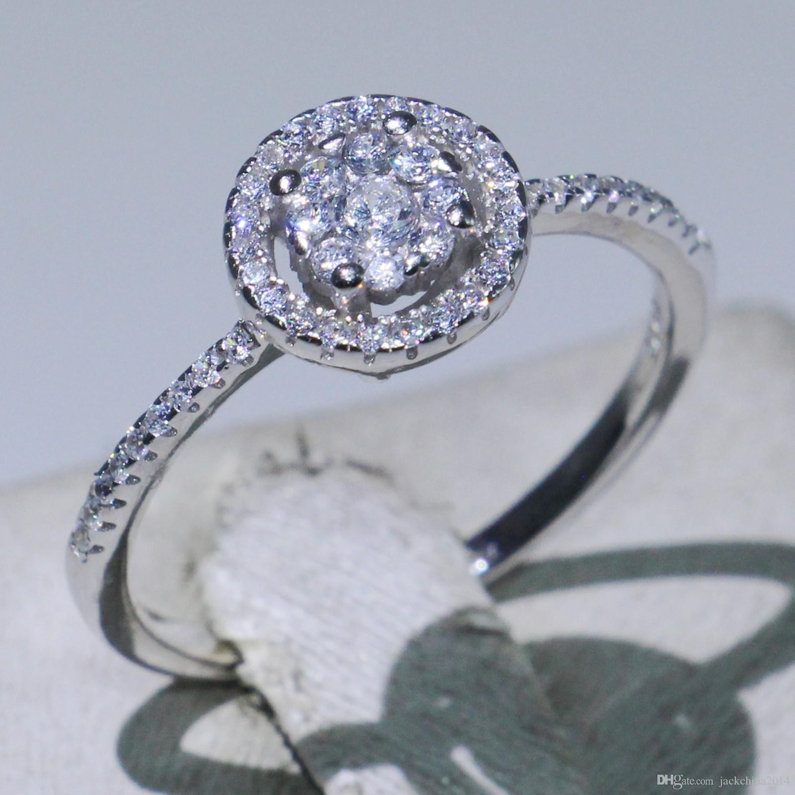 1d4113820 2019 Clsssical Brand New Choucong Promise Ring Luxury Jewelry Pure 100% 925  Sterling Silver Pave White Sapphire CZ Diamond Wedding Band Ring Gift From  ...