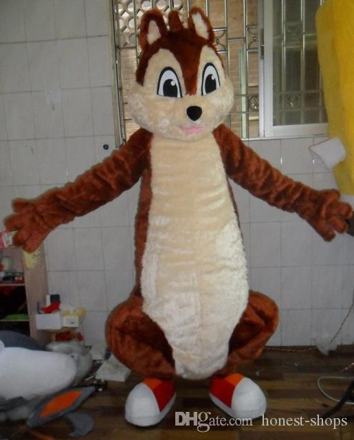 Big Tail Brown Squirrel Adult Fancy Dress Mascot Costume Adult Character mascot costume for Halloween party event