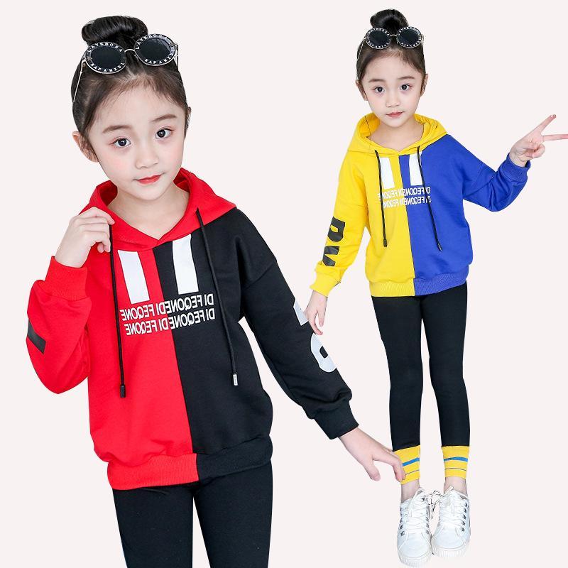 quality design 57a8b 1325e Neue Pullover langärmelige Pullover Kinderkleidung Mädchen 2019 Frühjahr  und Herbst warme Kleidung zweiteilig 4 6 8 10 12 14 Jahr