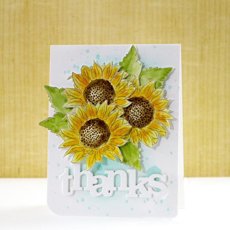Nueva floración flores transparentes Sello de silicona transparente / Seal DIY Scrapbooking / Álbum de fotos tarjeta decorativo dejando claro Sellos 6x8inch