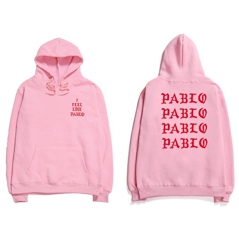 Hip Hop Hoodies Men I Feel Like Pablo Kanye West Streetwear Hoodie Sweatshirts  Letter Print Hoodie Club