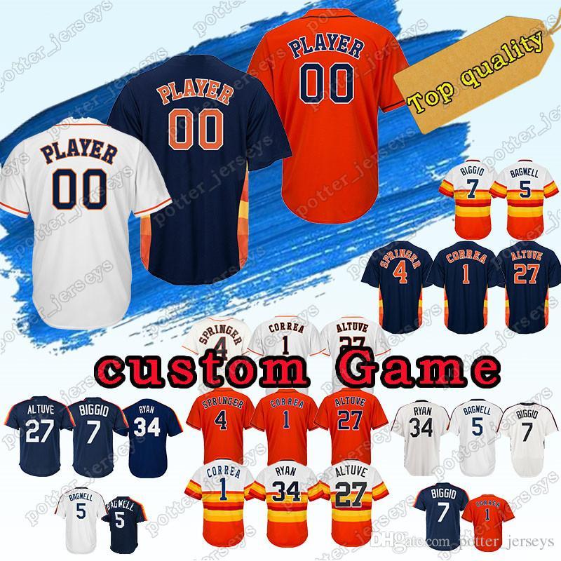 premium selection baeb3 b3c2c custom Jersey Houston custom Astros 6 Jake Marisnick 54 Roberto Osuna 22  Josh Reddick 4 George Springer 77 Garrett Stubbs Baseball Jerseys