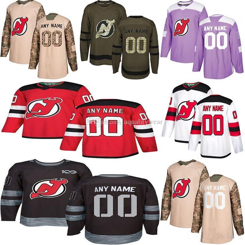 new concept bf3c8 d536a Customized New Jersey Devils Jerseys Personalized specially made any name  number NJ Heritage 9 Taylor Hall 13 Nico Hischier Hockey Jerseys