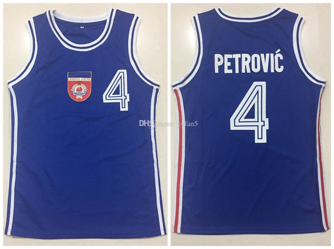 e382a92aa1fc 2019 1990 Drazen Petrovic Yugoslavia FIBA Gold Medal Retro Classics Basketball  Jersey Mens Stitched Custom Number And Name Jerseys From Yufan5
