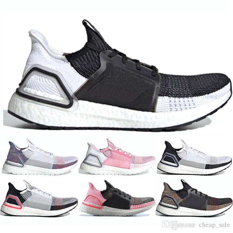 Adidas Ultra Boost 2019 2019 Ultra Boost Herren Damen Laufschuhe Streifen Schwarz Weiß Oreo Mint Grün Rot True Pink Designer Sneakers Ultraboost 19