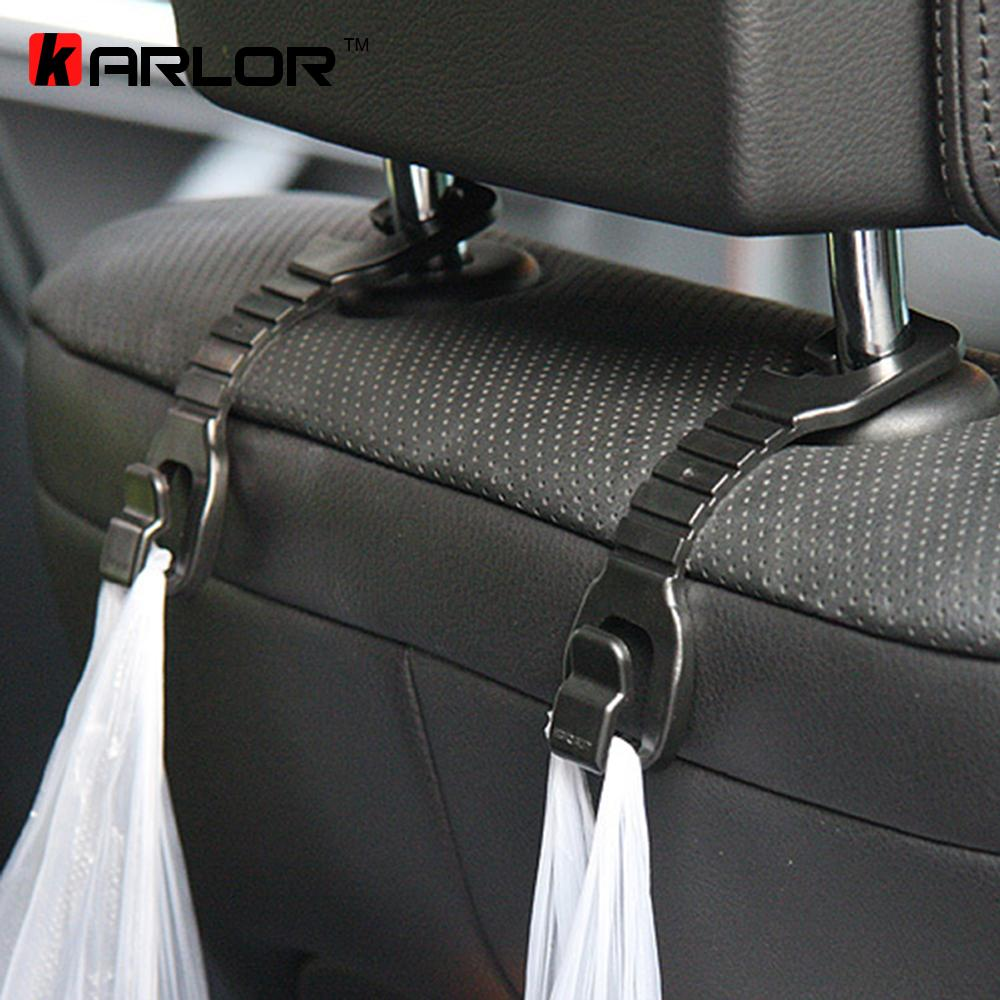 4pcs/lot High quality black color hook car seat pothook Wear hook rair-conk ABS Bearing Automobiles Accessories 3kg