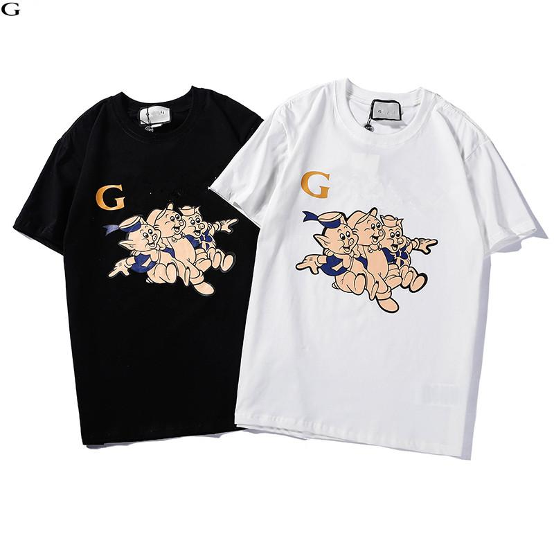 495f69db18 Men Women Casual Designer T Shirts New Fashion Summer Funny Cartoon Pig  Printing Tees Short Sleeve Crew Neck Cotton Brand Polos Novelty Tee Shirts  Awesome ...