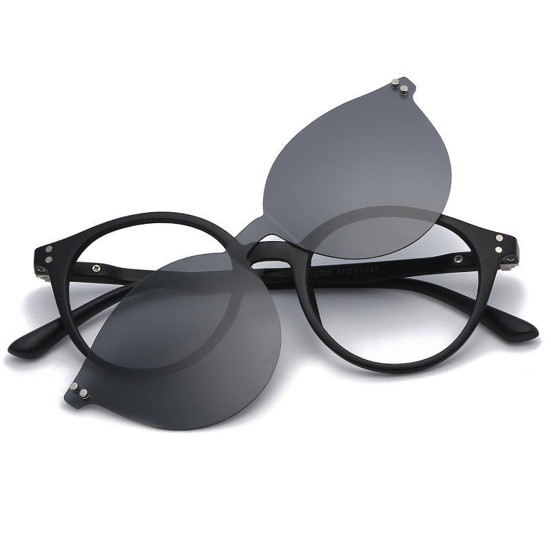 97c709fd719 Polarized Clip On Sunglasses Men Women Magnet Eyewear Glasses Frames ...