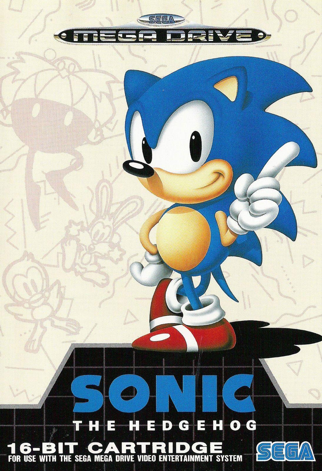 2019 Sonic The Hedgehog SEGA Mega Drive Art Silk Print Poster