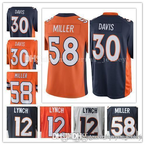 1fcf0f85d 2019 Denver Bronco 30 Terrell Davis 58 Von Miller Jersey Men 12 Paxton  Lynch Jerseys Embroidery And 100% Stitched From Suyanjersey