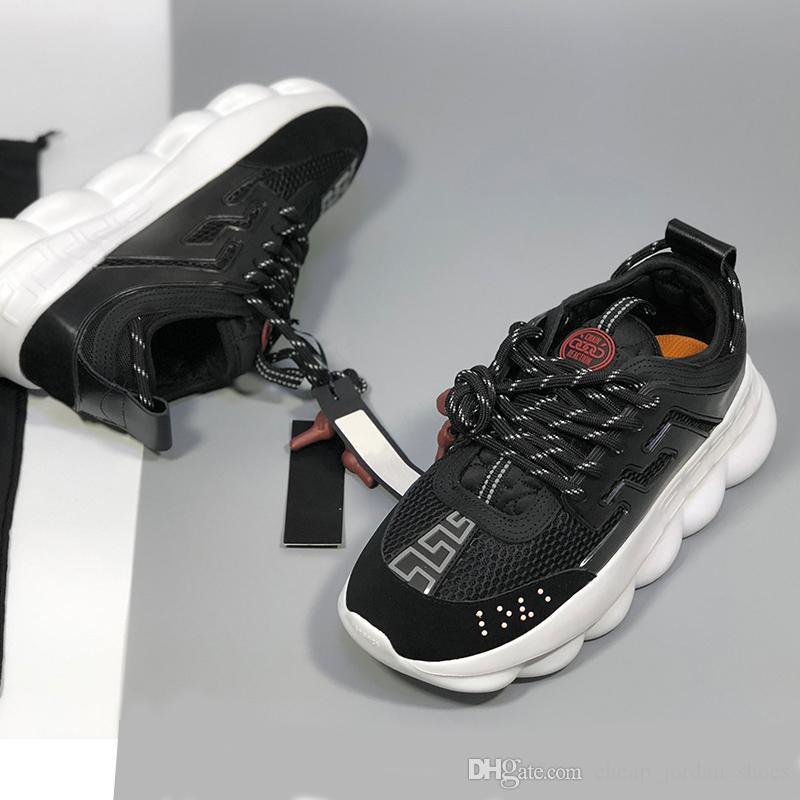 292c332bd3 Reaction Versace Chaussures Chain Haut Sport Acheter Designer De qvpa8AR