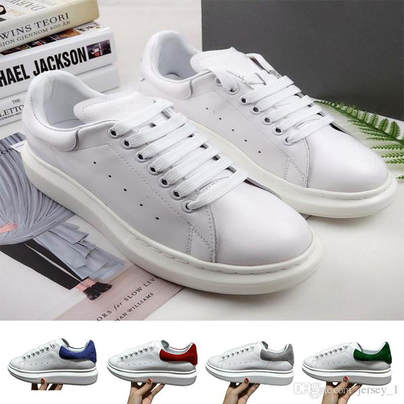 4ef63bbb074b 2019 New High Quality Luxury Designer Shoes Women Mens Trainers White  Leather Flat Casual Shoe Lady Black Pink Gold Women Sneakers From Jersey 1