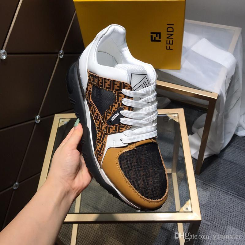 A Designers Men Shoes Luxuries FF Men's and Women's Sneakers Loafers Fashion Hign Top White Black Casual Sport Sock Shoes 38-44