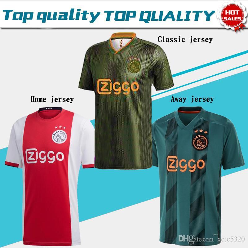 ab6e5f432 2019 2019 AJAX Home Soccer Jerseys  21 DE JONG Away Shirt Ajax 19 20  10  TADIC  4 DE LIGT  22 ZIYECH Men Football Uniforms From Xctc5320