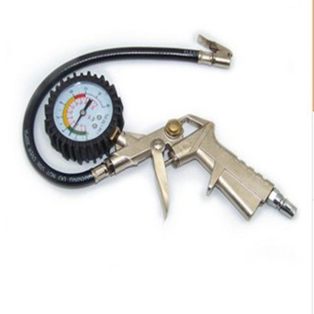 Tire Pressure Gauge For Car Motorcycle SUV Inflated Pumps Deflated Tire Repair Tools Pressure Gun Type For Compressor