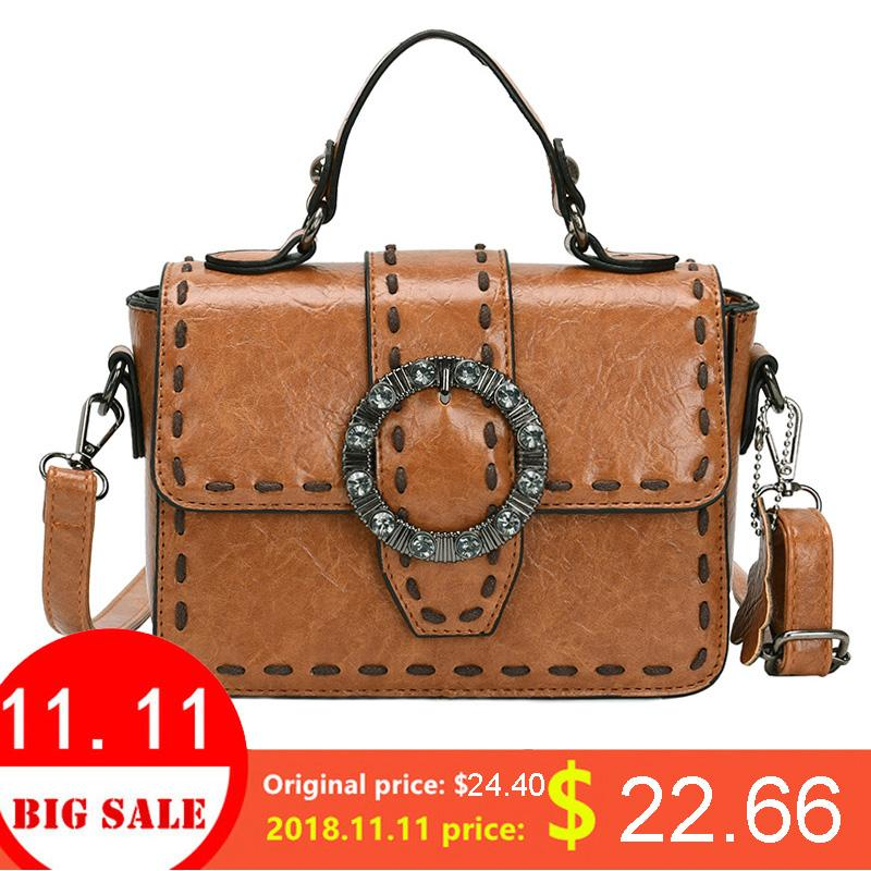 c3de15930b34 LYKANEFU Retro Luxury Satchel Bag Women Leather Handbag PU Designer ...