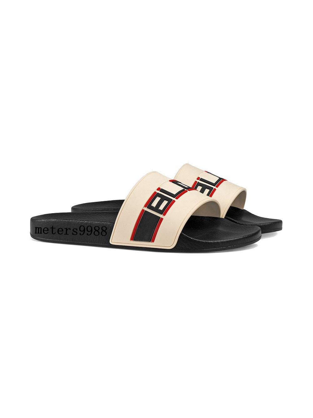 2ff42f27ee74a Fashion White Cream Slide Sandals Mens And Womens Causal Beach Slippers  Indoor Flats Flip Flops With Box Mens Boots Winter Boots From Gbxqqq,  $58.3  DHgate.