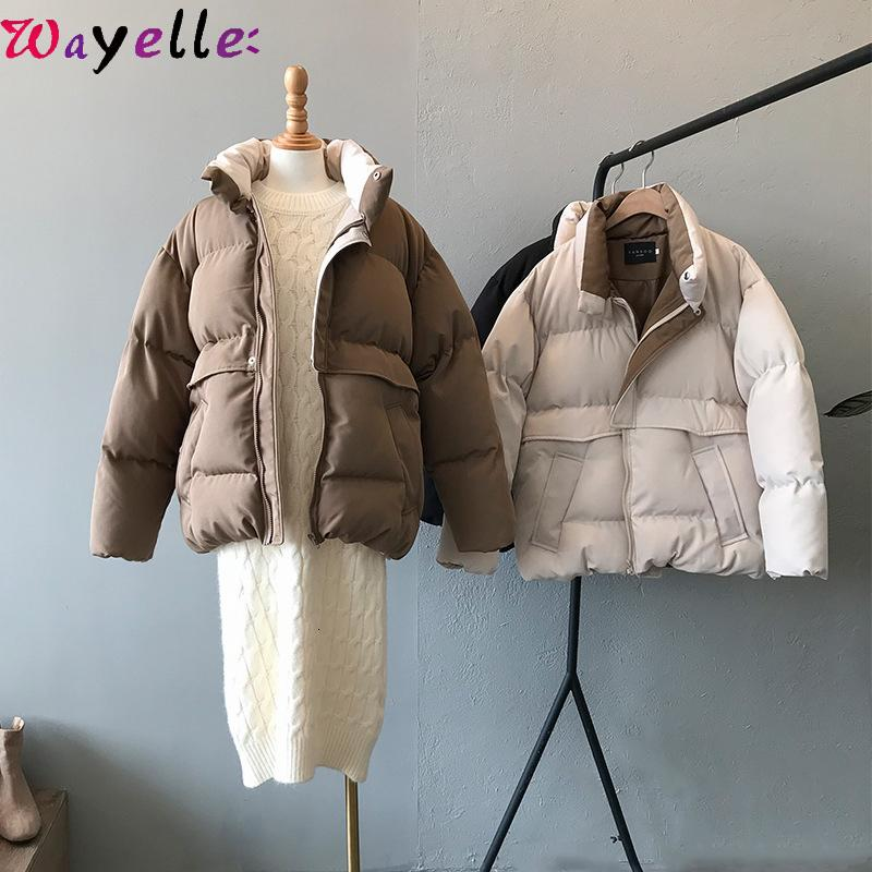 Harajuku Winter Jacket Coat Women 2019 New Casual Loose Thicken Warm Cotton-padded Parkas Women Korean Chic Overcoats