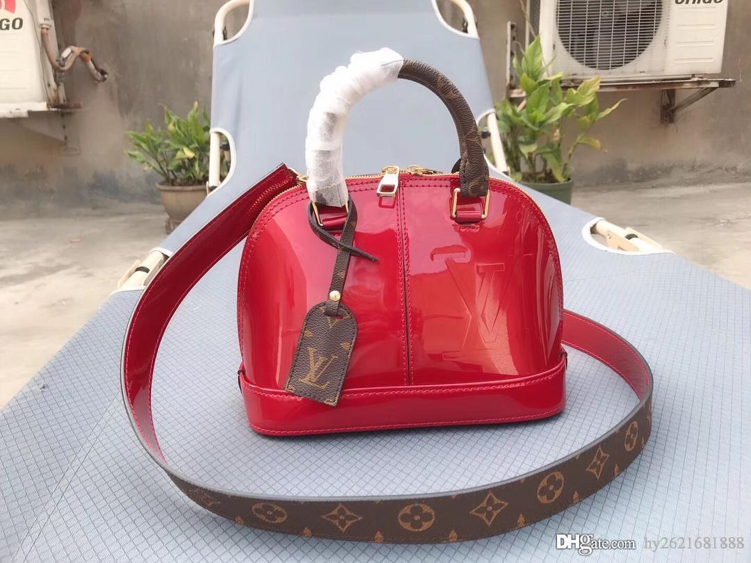 1c3dc5162fe6 Designer Handbags Old Flower with Patent Leather Handbags Letter ...
