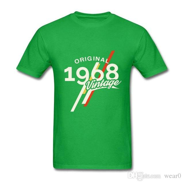 2019 Womens Luxury Designer T Shirts Vintage 1968 Classic 50 Years Birthday Shirt Men 50th Fathers Day Present Tee