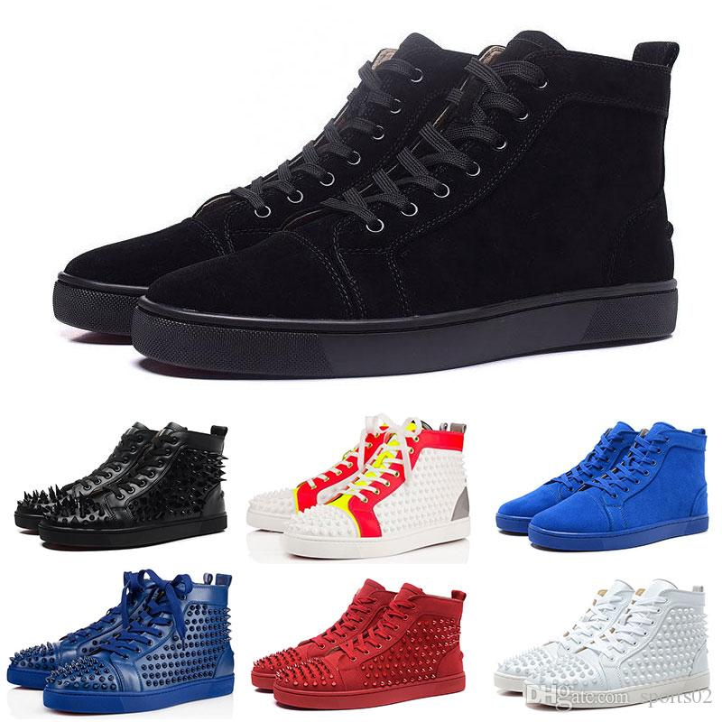 2ecf0654420 Discount Red Bottoms Sneaker Shoes Wholesale High Quality Mens Womens  Studded Spikes Flats Outdoor Party Wedding Designs Sneakers Big Order