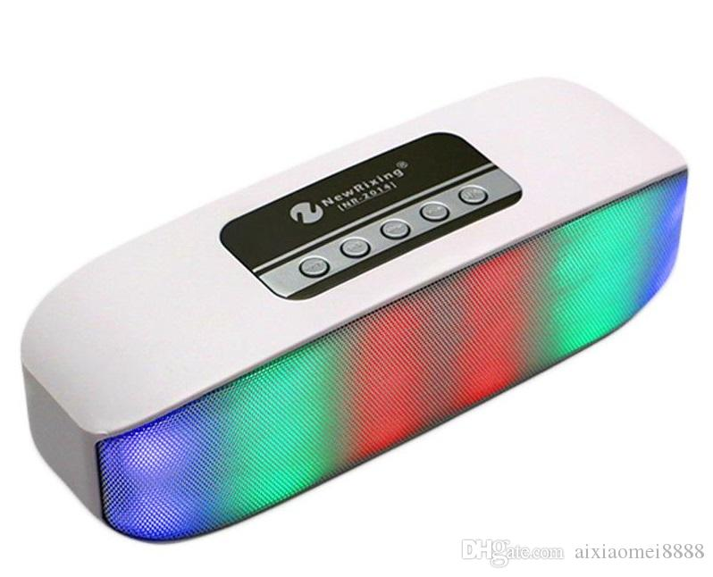 NR-2014 Mini Wireless Bluetooth Colorful Lamp Pulse LED Light Flash Speaker Support USB TF FM Function VS V318 BT808L XL Pill S10 X3 BT808NL
