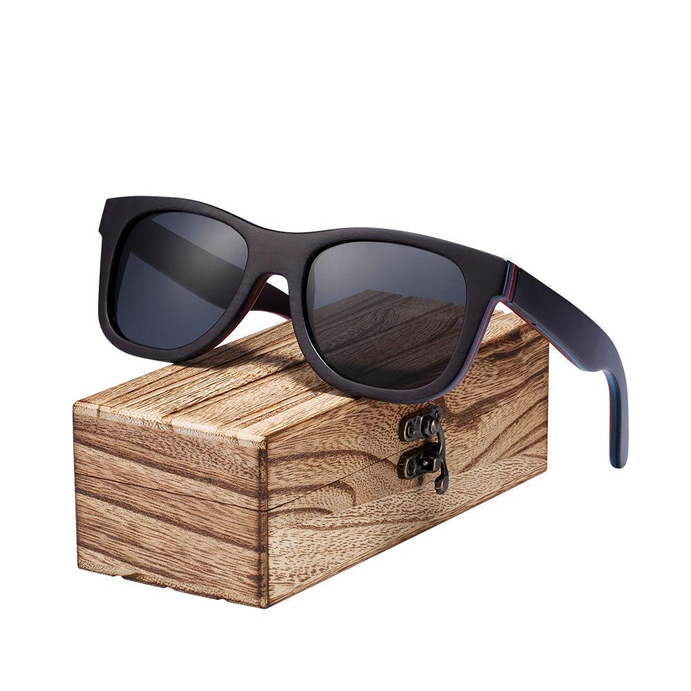 4c1811cd95 Compre Barcur Nuevo Monopatín Gafas De Sol De Madera Para Hombre  Polarizadas Uv400 Protección Gafas De Sol Mujeres Con Caja De Madera Libre  C19022501 A ...