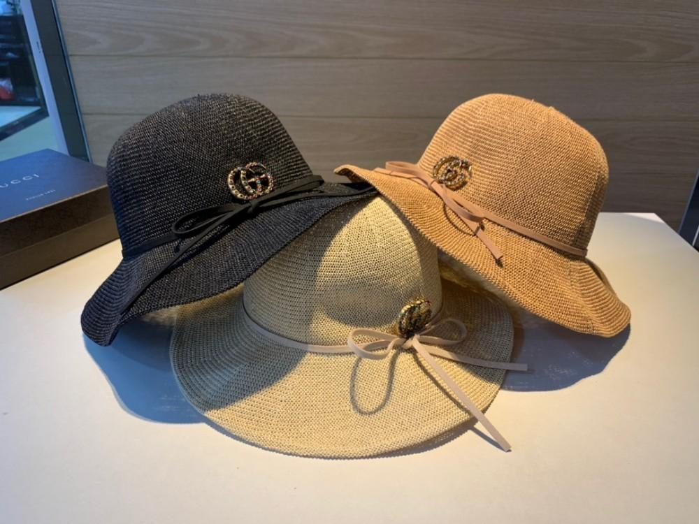 2c697676 2019 The New Shade Straw Hats For Women High Quality Visor Light Breathable  Cotton And Linen Knittingby Wide Brim Fedora Summer Hat From Wsj588, ...