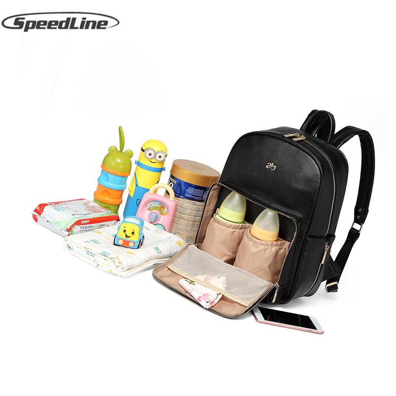 c96e52563738 Fashion Mommy Bag Backpack Mummy Diaper Maternal Bag Multi-function ...