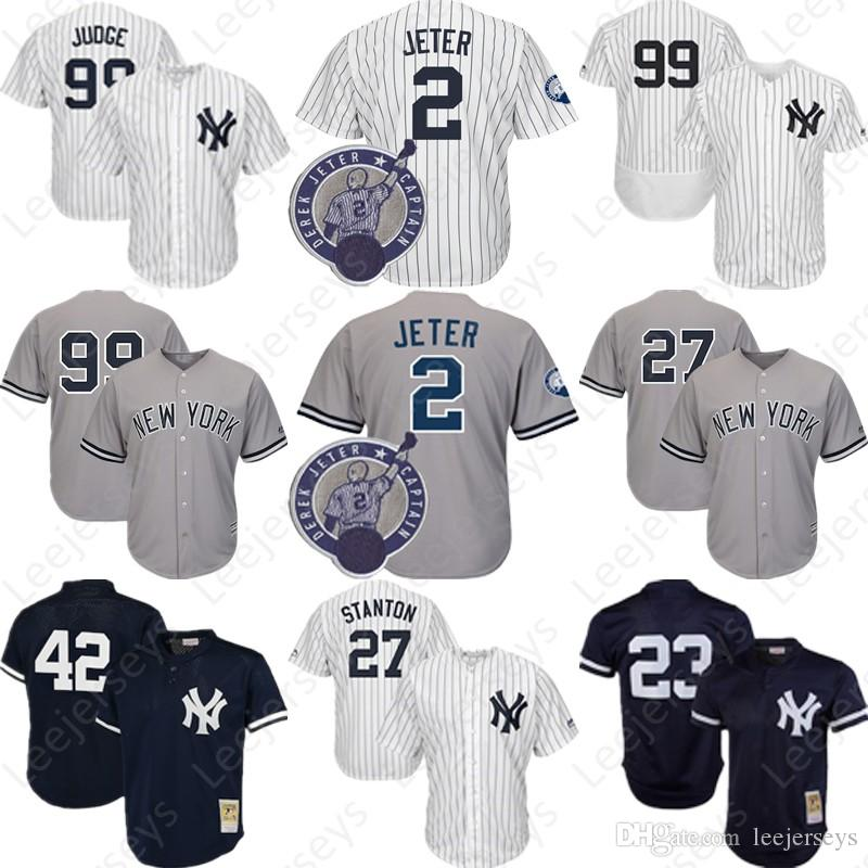 e2c4f2df187 Mens 99 Aaron Judge Jersey New York Yankees #2 #27 24 Gary Sanchez ...